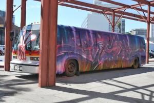 Public transportation graffiti