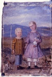 CCA Christiansen painting of Pioneer Children