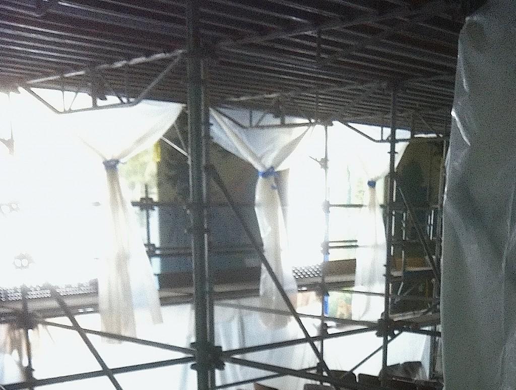 Mural Restoration Scaffolding