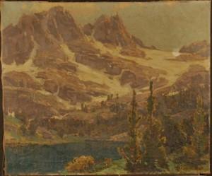 Sierra Lake Scene by Edgar Payne, Before Conservation