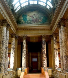 Historical murals from the Beaux Arts period