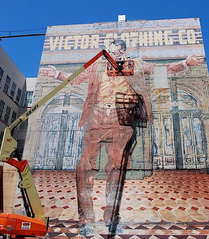 Mural restoration consultation services historic for Anthony quinn mural