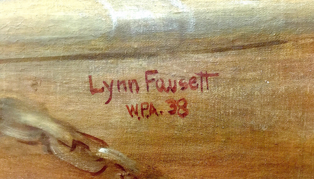 Lynn Fausett signature 1938