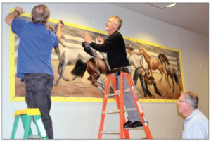 Installing an historic mural