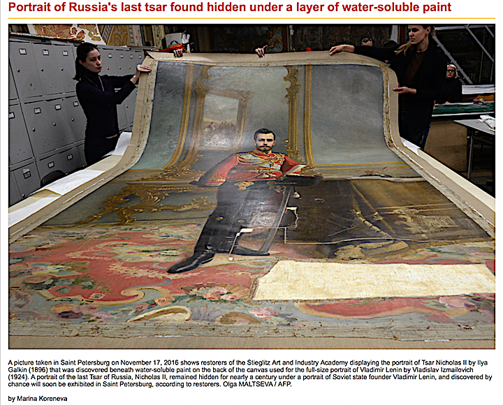 Painted Out Russian Royalty Rediscovered During Art Restoration