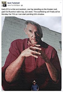 Ed Ruscha by Kent Twitchell