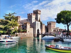 Sirmione castle, next to Lonato del Garda