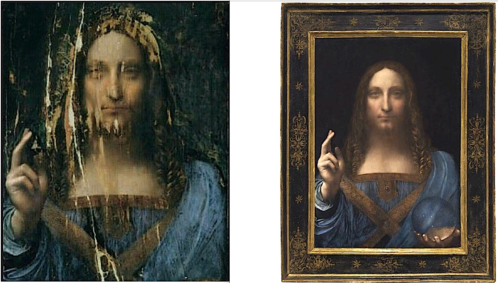 can botched over restored art repainted be saved clean an oil