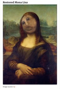 Restored Mona Lisa