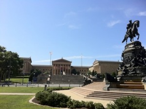 Exterior of Philadelphia Museum of Art