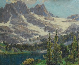 Sierra Lake Scene by Edgar Payne, After Conservation