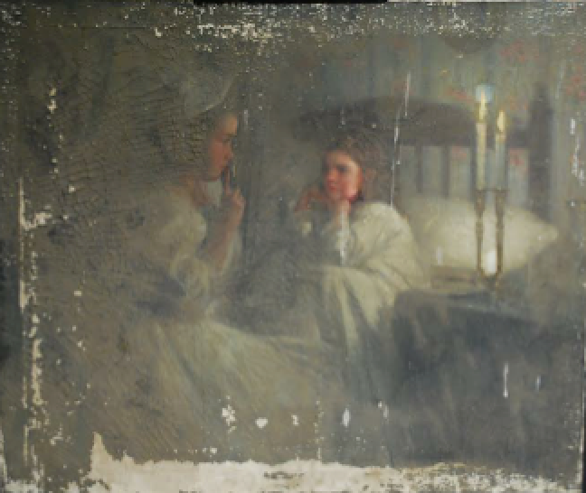 Painting damaged in storage
