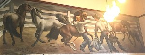WPA mural in Lamesa, TX by Fletcher Martin
