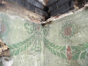 historical decorations discovered in fire debris