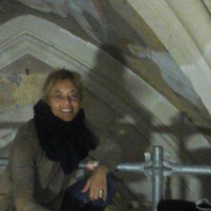 Ms. Luisa Pari, mural conservator
