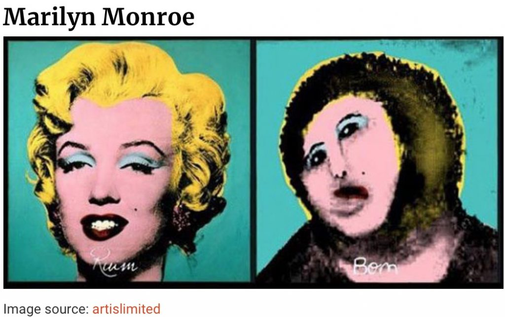 Warhol before and after Do-it-yourself-art-restoration