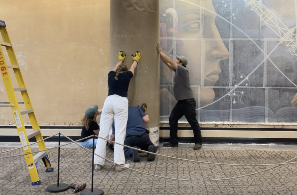 Mural removal in Austin Texas